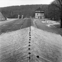 buchenwald, gate-building, watch-tower