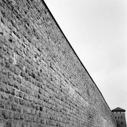 mauthausen, wall, watch-tower