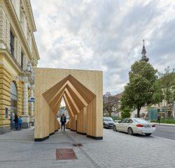 Wood Passage Linz_Atelier Andrea Gassner_Hermann Kaufmann_proHolz Österreich___©_KURT HOERBST 2019